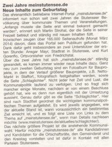 Stutensee-Woche: 2 Jahre meinstutensee.de