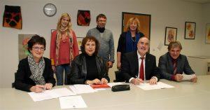Kooperationsvereinbarung am Schulzentrum