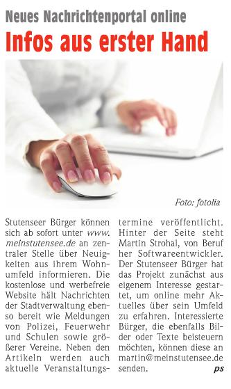 Artikel Wochenblatt 12.12.2012