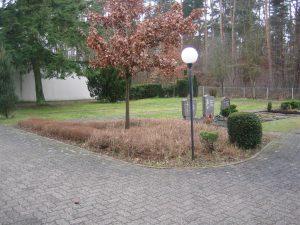 Der zukünftige Platz für das gärtnergepflegte Grabfeld