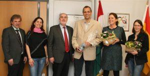 Oberbürgermeister Klaus Demal bedankte sich gemeinsam mit Hauptamtsleiter Edgar Geißler und Michaela Ernst bei den Kooperationspartnern Faris Abbas, Irene Kiefer und Eva Schober