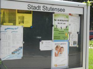 Plakataushang meinstutensee.de