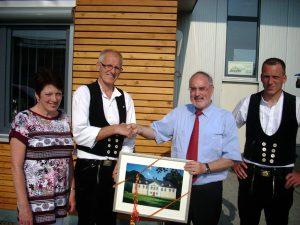 Margit Breyer, Reinhard Breyer (Geschäftsführer), Oberbürgermeister Klaus Demal und Sohn Joachim Breyer