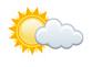 Symbol Sonne/Wolke