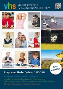 Volkshochschule Programmheft 2013/2014