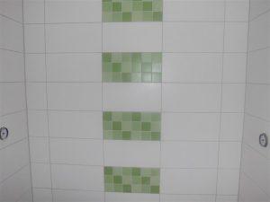 Die neu gestalteten Duschkabinen
