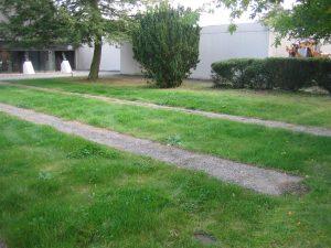 """Der Platz für das zukünftige """"Gärtnergepflegte Grabfeld"""""""
