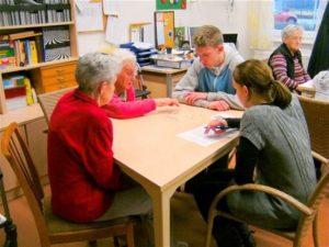 Besuch Schüler im Haus Edelberg
