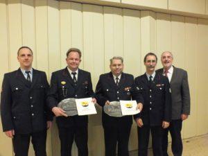 Hohe Auszeichnung erhielten Günther Meyer und Frank Giraud