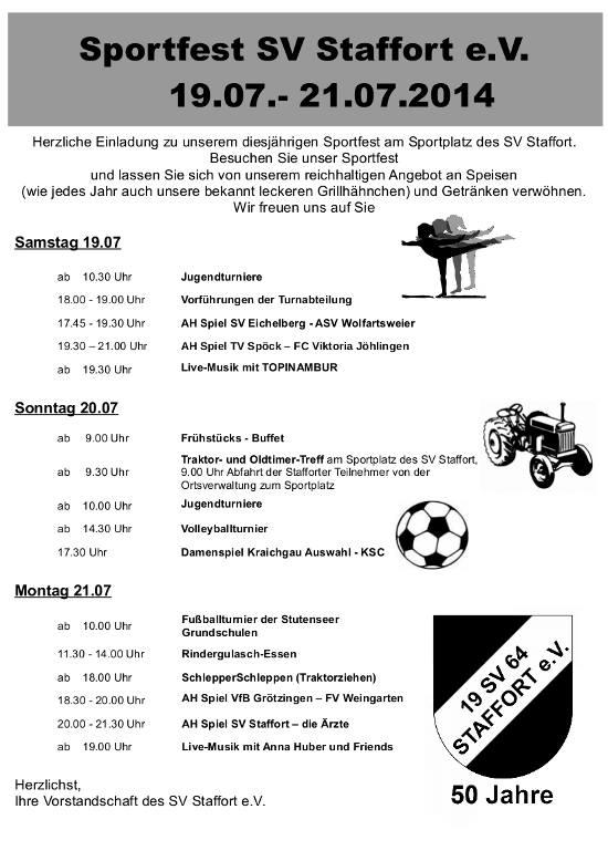 Sportfest sv staffort 2014 sv staffort