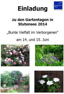 Gartentage 2014
