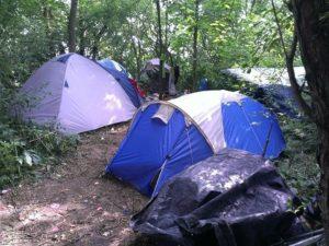 Zeltlagerplatz geräumt