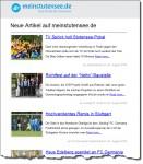 Neuer Newsletter von meinstutensee.de