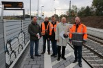 Restarbeiten Bahnstreckenabschnitt Stutensee