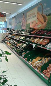 Gemüse- und Obst-Bereich