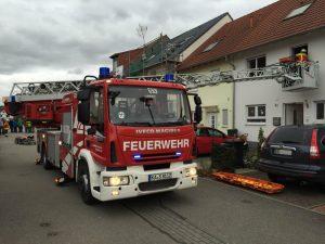 Kellerbrand in Spöck