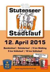 Plakat Stutenseer Stadtlauf 2015