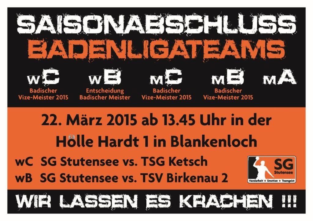 Saisonabschluss Badenliga-Teams
