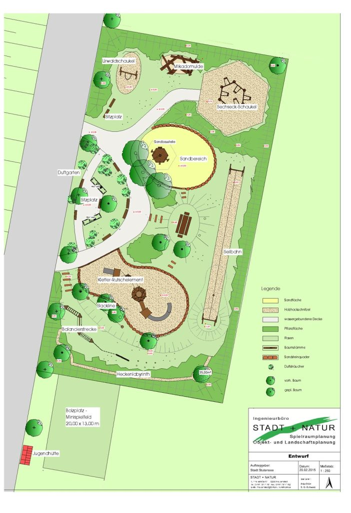 Plan Spielplatz Friedrichstal