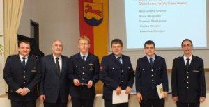 Heiko Baier, Oberbürgermeister Klaus Demal, Damian Pfettscher, Alessandro Gruber, Mate Maslarda und Klaus Dieter Süß (v.l.n.r.)