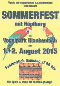 Sommerfest Vogelpark Blankenloch 2015