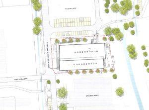 Lageplan neues Stutenseebad