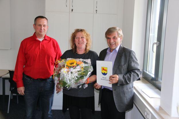 Diplom-Sozialarbeiterin Heike Wäcker feiert Dienstjubiläum