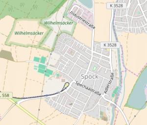 Karte Spöck
