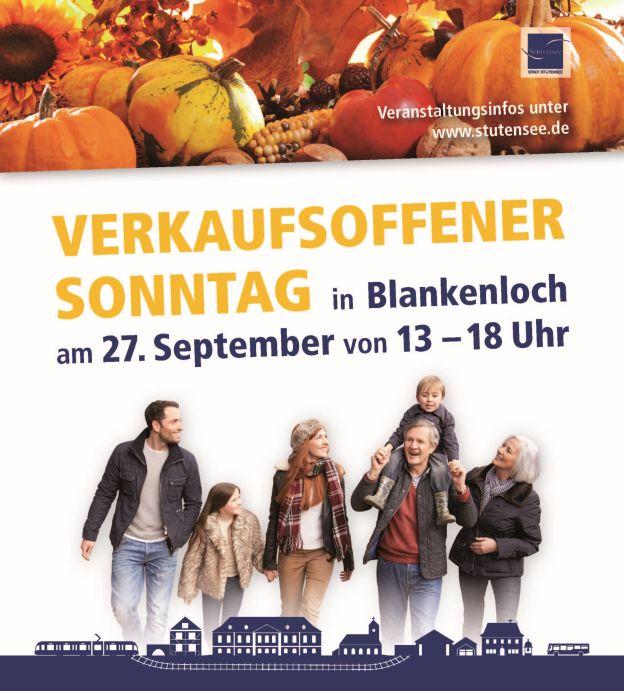 Verkaufsoffener Sonntag in Blankenloch am 27. September