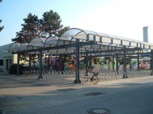 Fahrradständer Schulzentrum