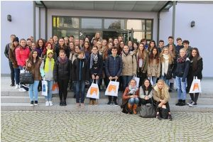 Empfang der Schulklasse aus Italien im Rathaus Stutensee