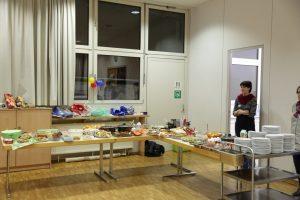 Fest für Flüchtlinge - Buffet