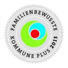 Logo familienbewusste Kommune Plus 2015