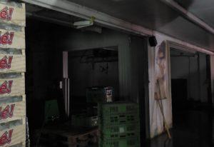 Der vom Brand betroffene Teil der Markthalle Karlsruhe