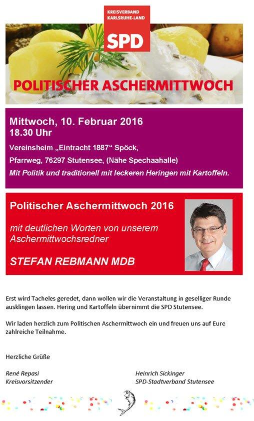 SPD Politischer Aschermittwoch