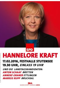 Hannelore Kraft-Plakat