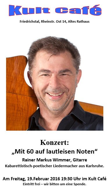 Konzert Rainer Markus Wimmer