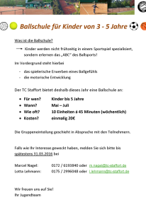 TC Staffort Flyer Ballschule