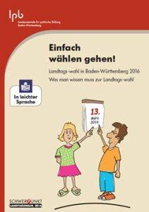 """Broschüre """"Einfach wählen gehen"""""""
