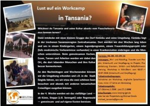 Flyer Worcamp Tansania