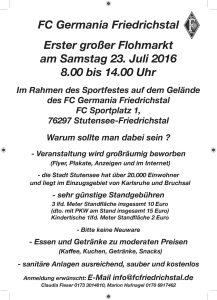 Flohmarkt FC Germania