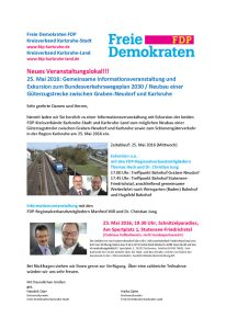 Flyer FDP-Exkursion
