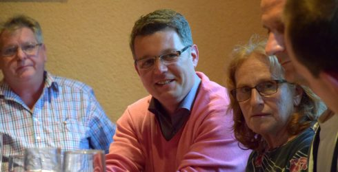 Beisitzer Werner Bollian, Kreisvorsitzender Heiko Zahn, Vorsitzende Edith Nagel