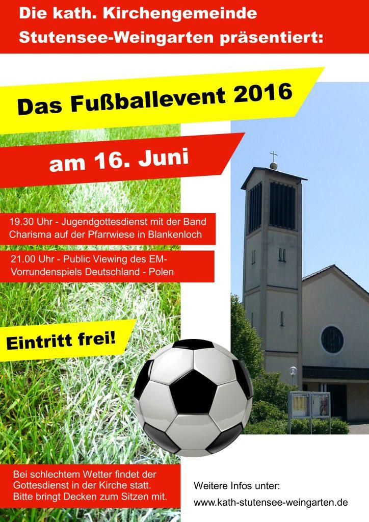 Plakat Fußballevent Firmung