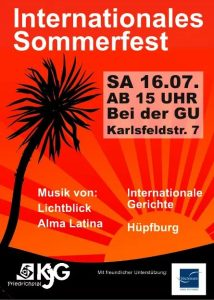 Flyer Internationales Sommerfest