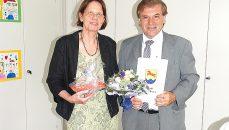 Elke Eisele und Hauptamtsleiter Edgar Geißler