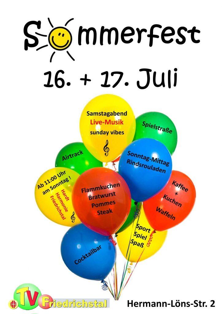 Sommerfest TV Friedrichstal 2016