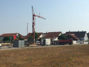 Baubeginn Anschlussunterbringung Spöck