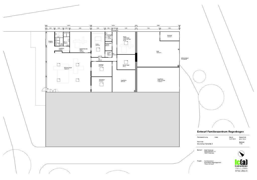 Entwurf Begegnungszentrum Spöck