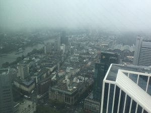 Blick vom Commerzbank-Hochhaus Frankfurt
